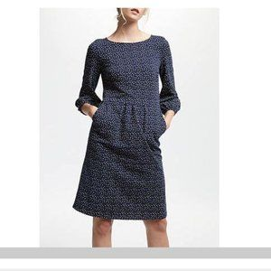 Boden Womens Odelia Jersey Dress UK 16 US 12 Navy